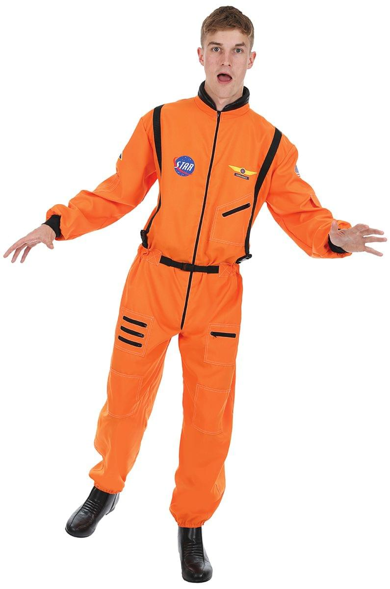 Men's Orange Astronaut Costume