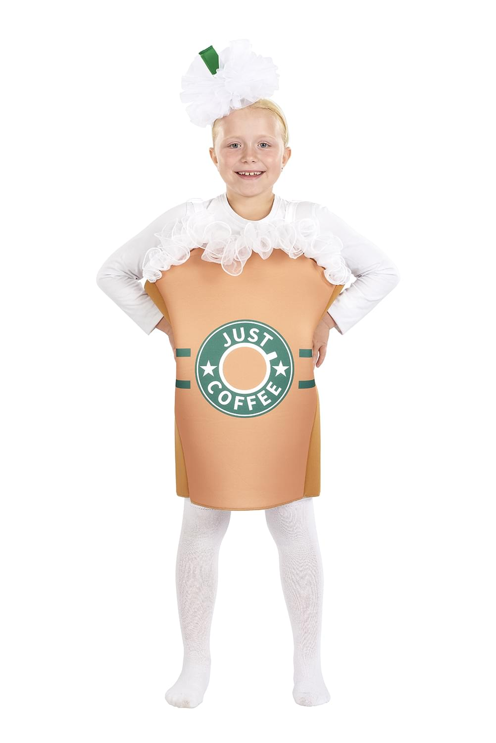 """Just Coffee"" Kids Costume with Tunic & Headpiece 
