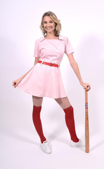 Rockford Peaches Women's Costume Baseball Uniform