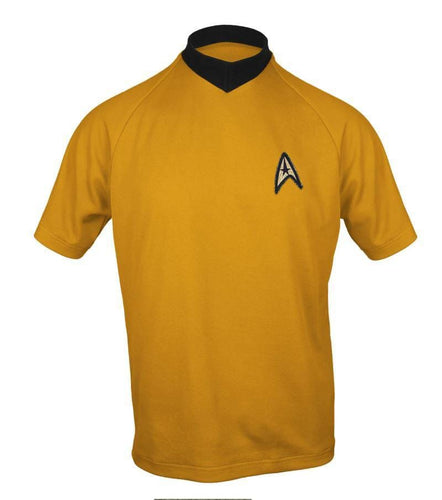 Star Trek: TOS Adult Starfleet Command Gold Shirt
