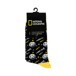 National Geographic Moon Landing Mid-Calf Adult Socks