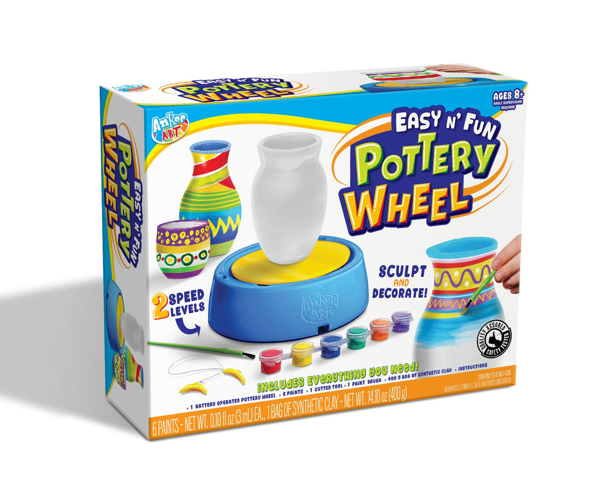 Easy N' Fun Pottery Wheel Craft Kit