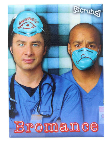 Scrubs JD and Turk Bromance 2.5 x 3.5 Inch Magnet