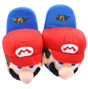 Super Mario Bros. Mario Plush Teen Slippers