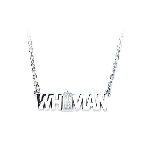 Dr. Who Whovian Logo 3D Necklace
