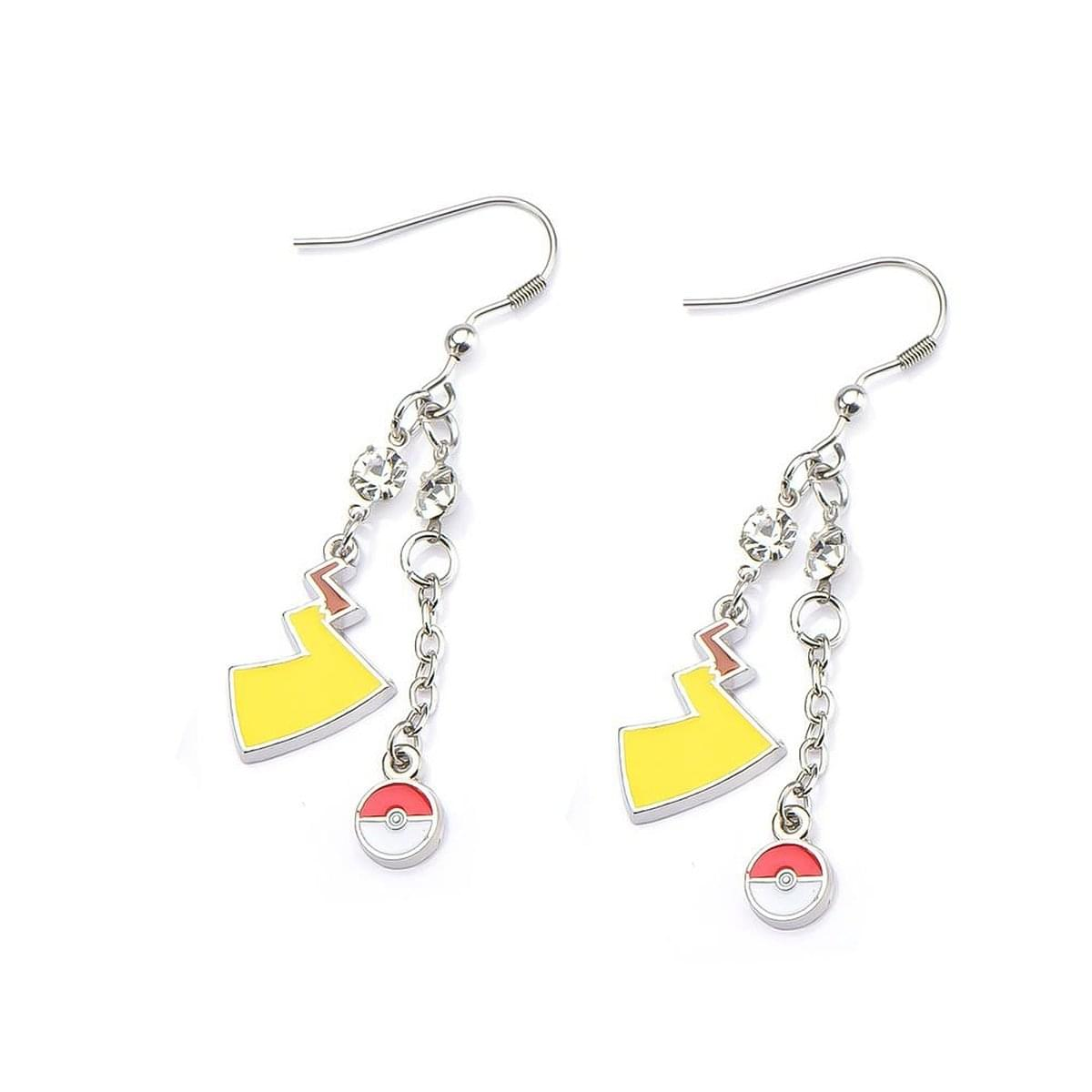 Pokemon Pokeball & Lightning Bolt Dangle Earrings