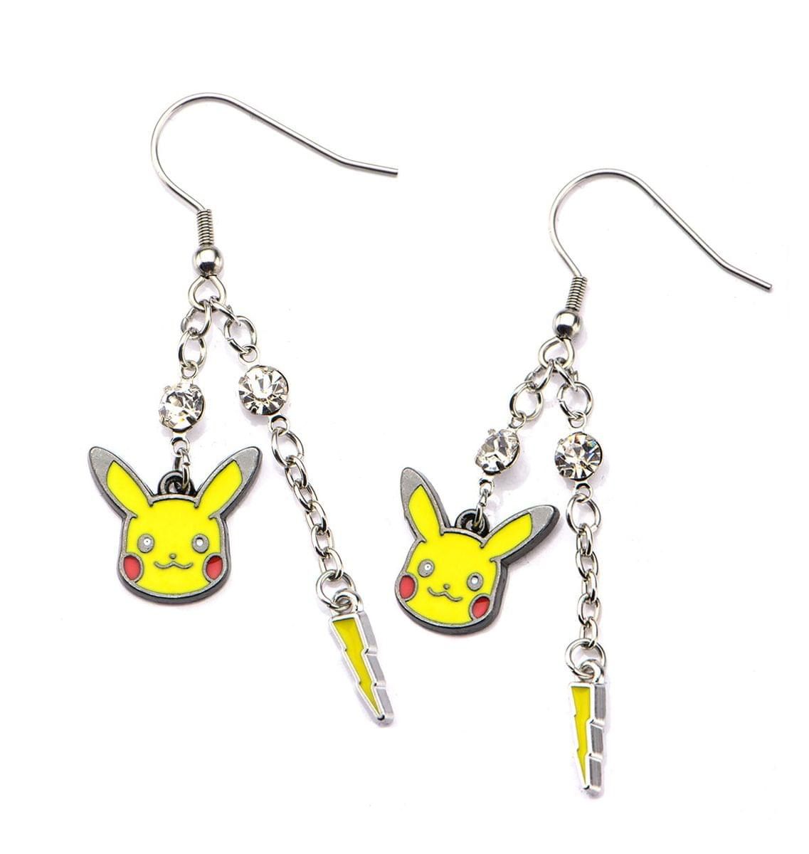 Pokemon Pikachu & Lightning Bolt Dangle Earrings