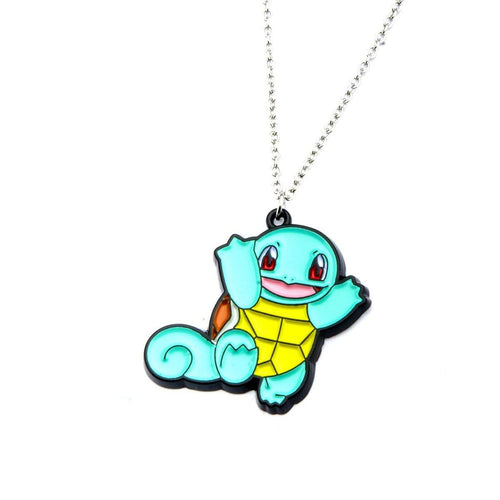 Pokemone Squirtle Enamel Pendant Necklace