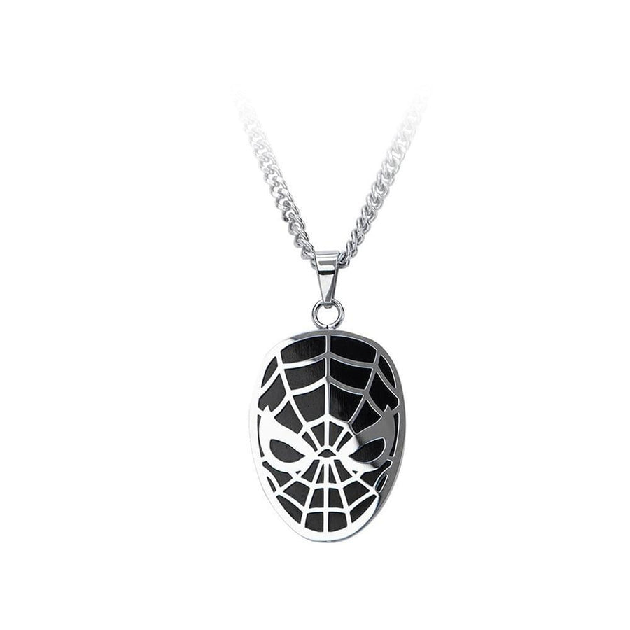 "Marvel Comics Spider-Man Stainless Steel 24"" Chain Pendant Necklace"