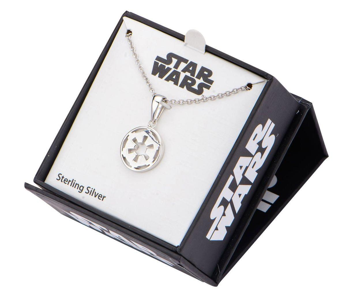 "Star Wars Imperial Symbol 18"" Stainless Steel Pendant Necklace"