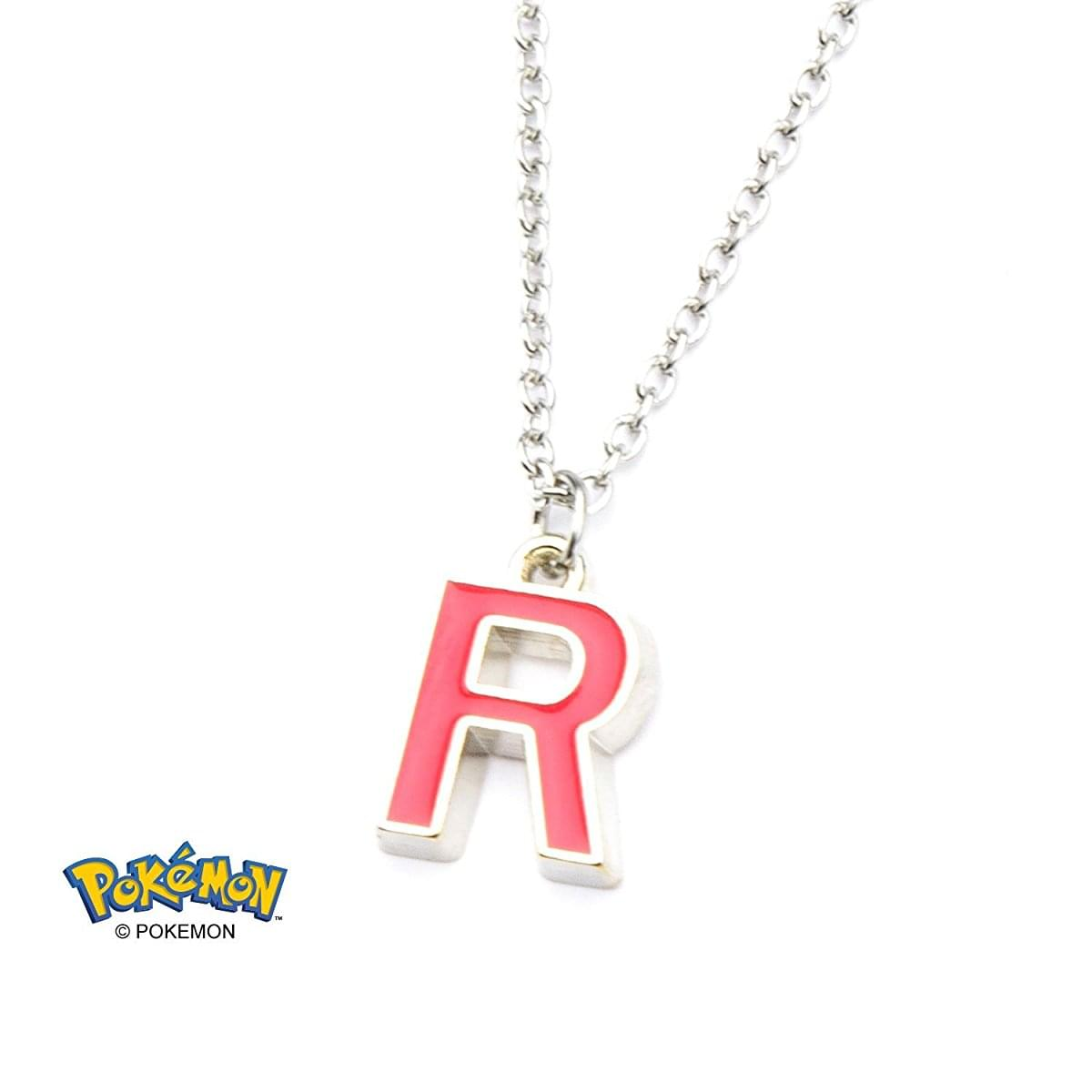 "Pokemon Team Rocket ""R"" Enamel Pendant Necklace"