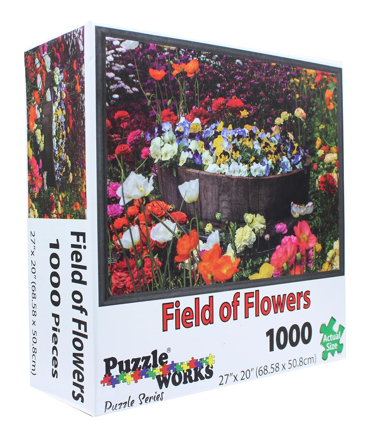 PuzzleWorks 1000 Piece Jigsaw Puzzle | Field Of Flowers