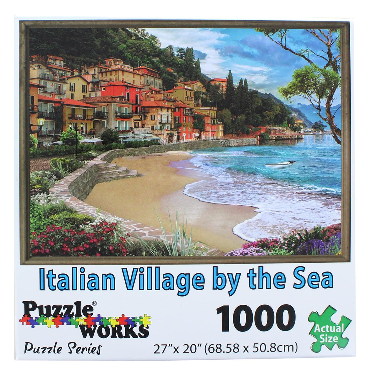 PuzzleWorks 1000 Piece Jigsaw Puzzle | Italian Village By The Sea