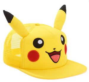 Pokemon Pikachu Big Face with Ears Snapback Hat | One Size