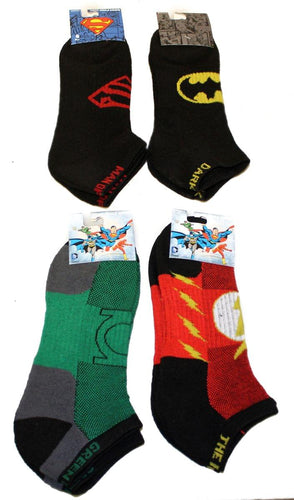 DC Comics Performance Ankle Socks 4-Pack