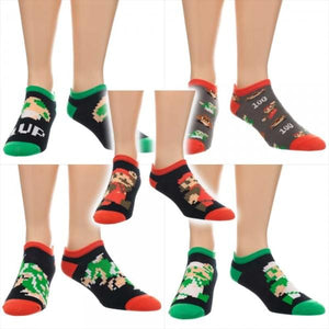Super Mario Bros. Ankle Socks: 5 Pack