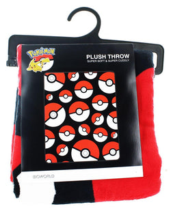 Pokemon Pokeball Lightweight Fleece Throw Blanket | 48 x 60 Inches