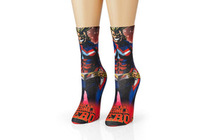 My Hero Academia All Might Adult Crew Socks