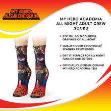 Load image into Gallery viewer, My Hero Academia All Might Adult Crew Socks