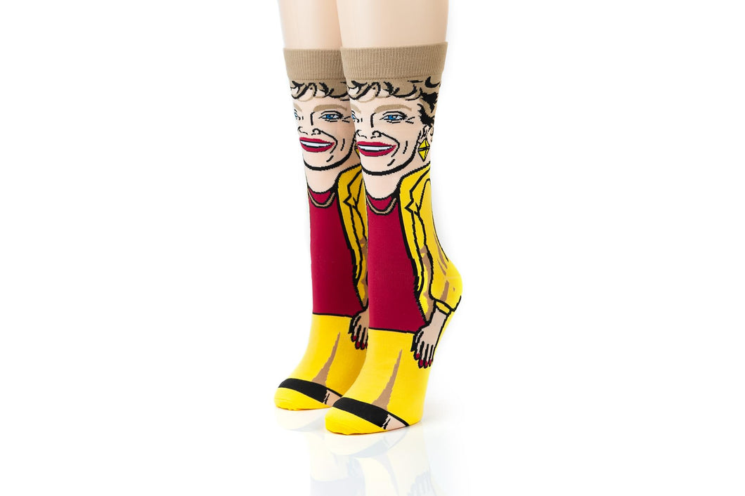 The Golden Girls Blanche Funny Graphic Socks | Single Pair Of Adult Crew Socks