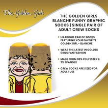 Load image into Gallery viewer, The Golden Girls Blanche Funny Graphic Socks | Single Pair Of Adult Crew Socks