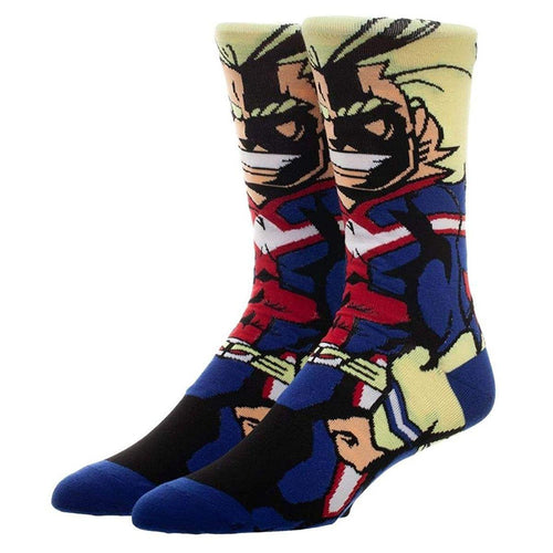 My Hero Academia All Might 360 Print Adult Crew Socks