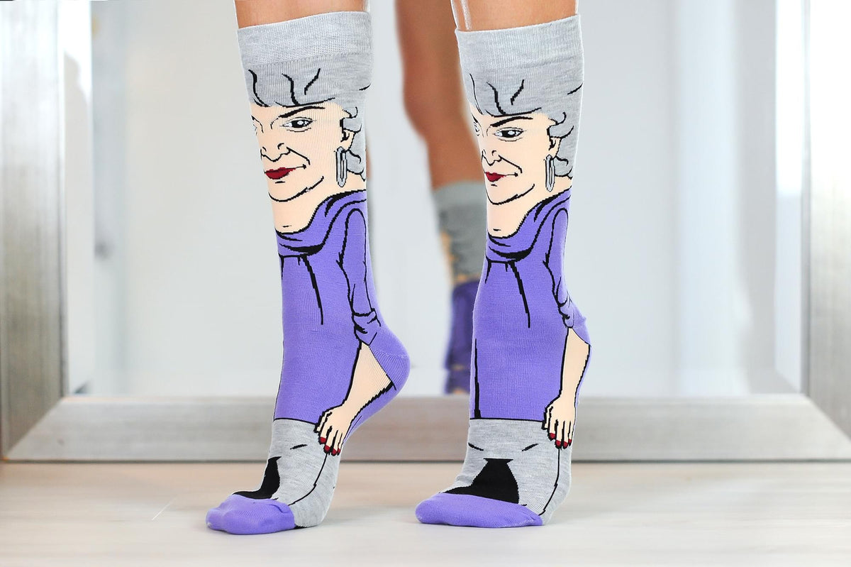 The Golden Girls Dorothy Funny Graphic Socks | Single Pair Of Adult Crew Socks