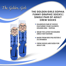 Load image into Gallery viewer, The Golden Girls Sophia Funny Graphic Socks | Single Pair Of Adult Crew Socks