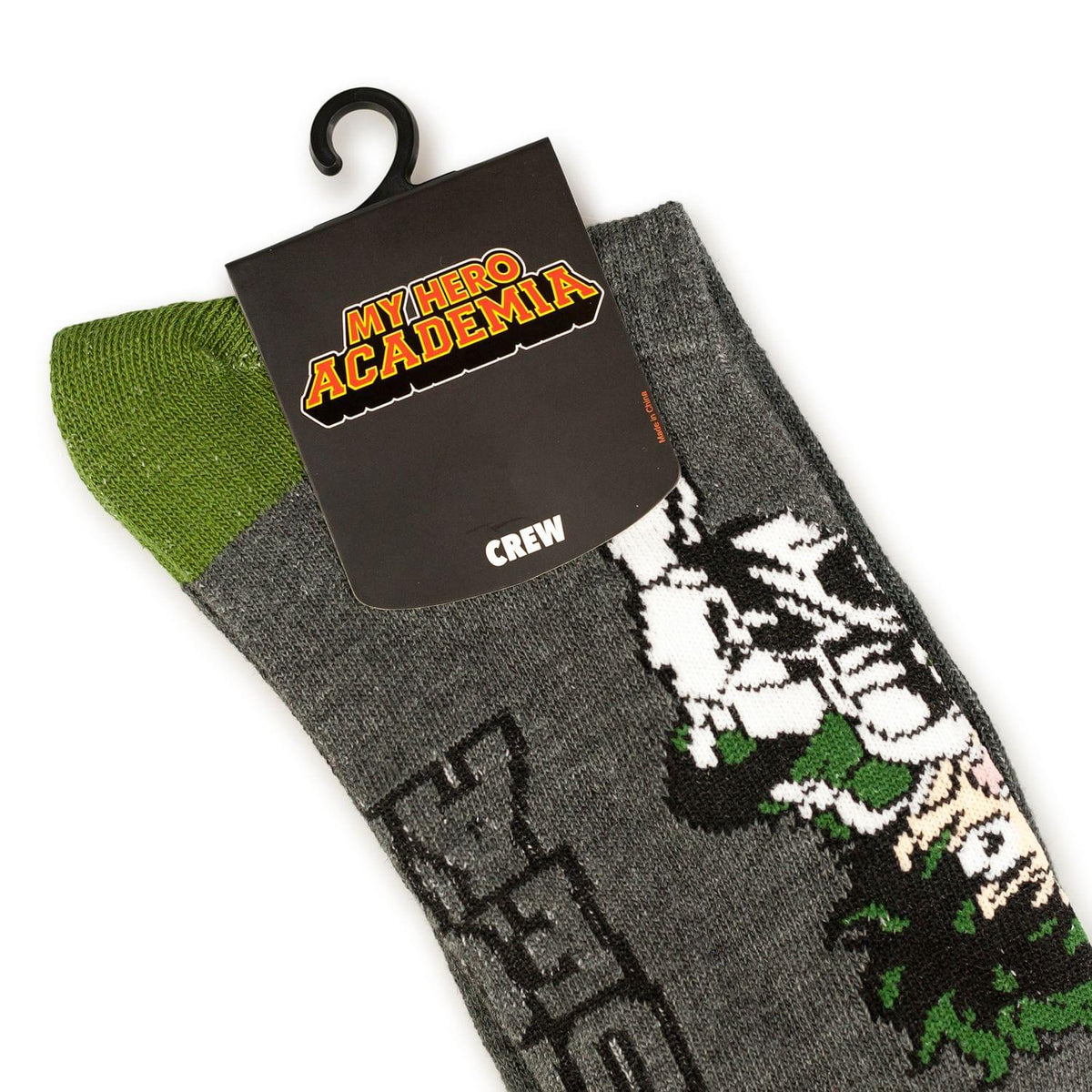 Bioworld My Hero Academia Anime Socks Featuring Deku | Adult Anime Crew Socks