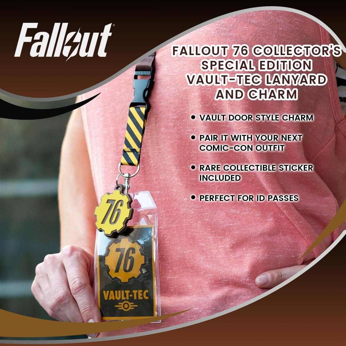 Fallout 76 Collector's Special Edition Vault-Tec Lanyard and Charm