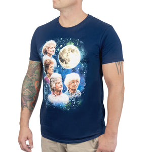 Golden Girls 80's Wolf Moon Men's Funny T-Shirt | Navy