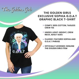 The Golden Girls Exclusive Sophia G.O.A.T Graphic Black T-Shirt