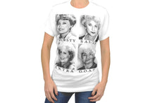 Load image into Gallery viewer, Bioworld the Golden Girls Graphic Slang Adult G.O.A.T. T-Shirt X-Small White