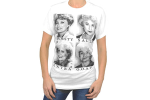 Bioworld the Golden Girls Graphic Slang Adult G.O.A.T. T-Shirt X-Small White