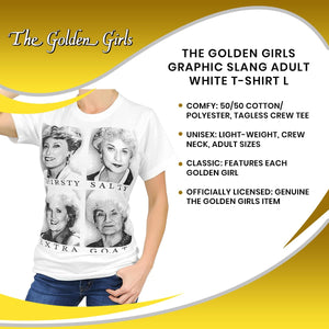 The Golden Girls Graphic Slang Adult White T-Shirt
