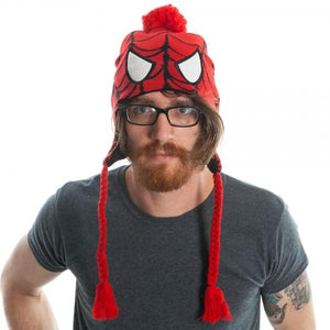 Spiderman Men's Red Laplander Hat