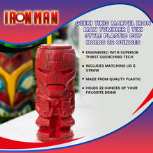 Load image into Gallery viewer, Geeki Tikis Marvel Iron Man Tumbler | Tiki Style Plastic Cup | Holds 22 Ounces