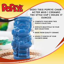 Load image into Gallery viewer, Geeki Tikis Popeye Character Mug | Ceramic Tiki Style Cup | Holds 17 Ounces
