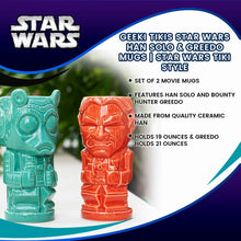 Load image into Gallery viewer, Geeki Tikis Star Wars Han Solo & Greedo Mugs | Star Wars Tiki Style Ceramic Cups