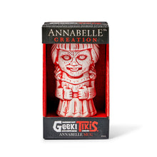 Load image into Gallery viewer, Geeki Tikis Annabelle Doll Mug | Ceramic Tiki Style Cup | Holds 16 Ounces