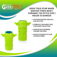 Load image into Gallery viewer, Geeki Tikis Star Wars Master Yoda Mug | Ceramic Tiki Style Cup | Holds 12 Ounces