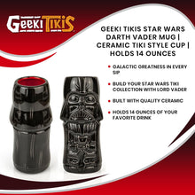 Load image into Gallery viewer, Geeki Tikis Star Wars Darth Vader Mug | Ceramic Tiki Style Cup | Holds 14 Ounces