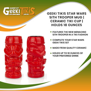 Geeki Tikis Star Wars Sith Trooper Mug | Ceramic Tiki Cup | Holds 18 Ounces