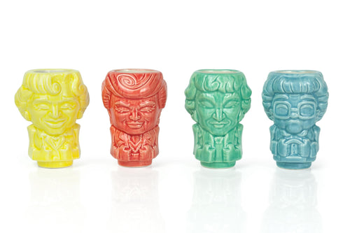 Geeki Tikis The Golden Girls Muglets | Ceramic Tiki Style Mini Mugs | Set Of 4