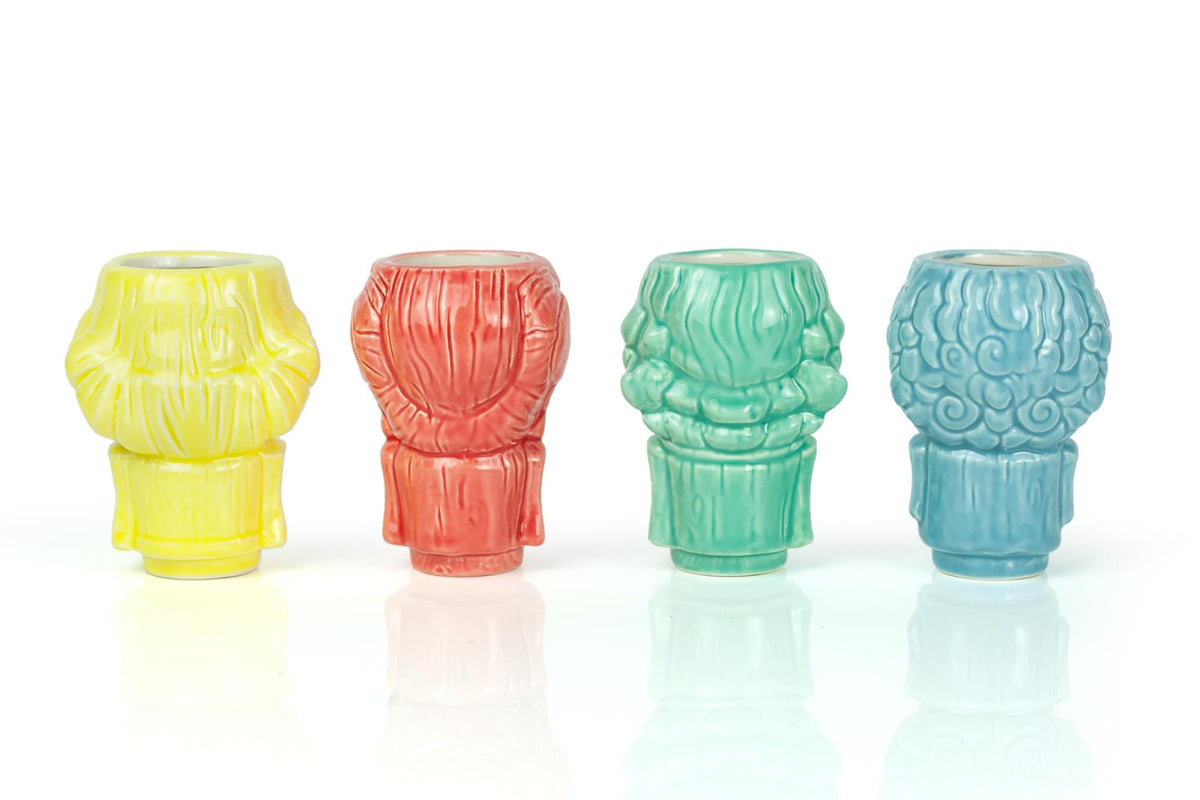 Geeki Tikis The Golden Girls Ceramic 2 Ounce Muglet Mini 3 Inch Glasses Set Of 4 Toynk Exclusive