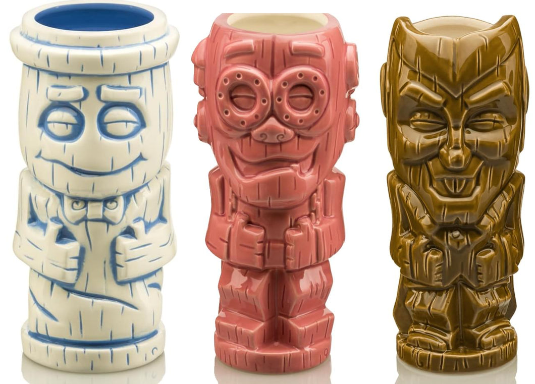 Monster Cereal Ceramic Geeki Tiki Mugs | Set of 3