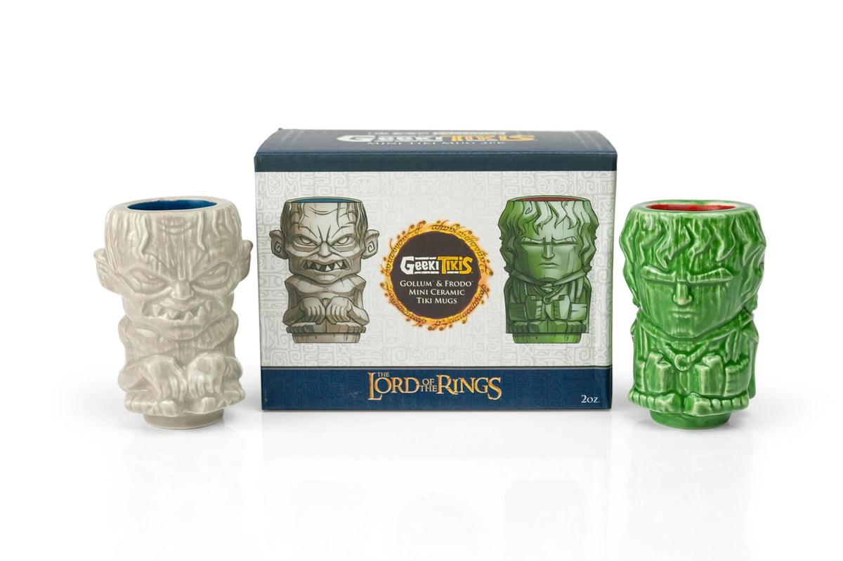 Geeki Tikis Lord Of The Rings Frodo & Gollum Mini Muglets | 2-Ounce Ceramic Mugs