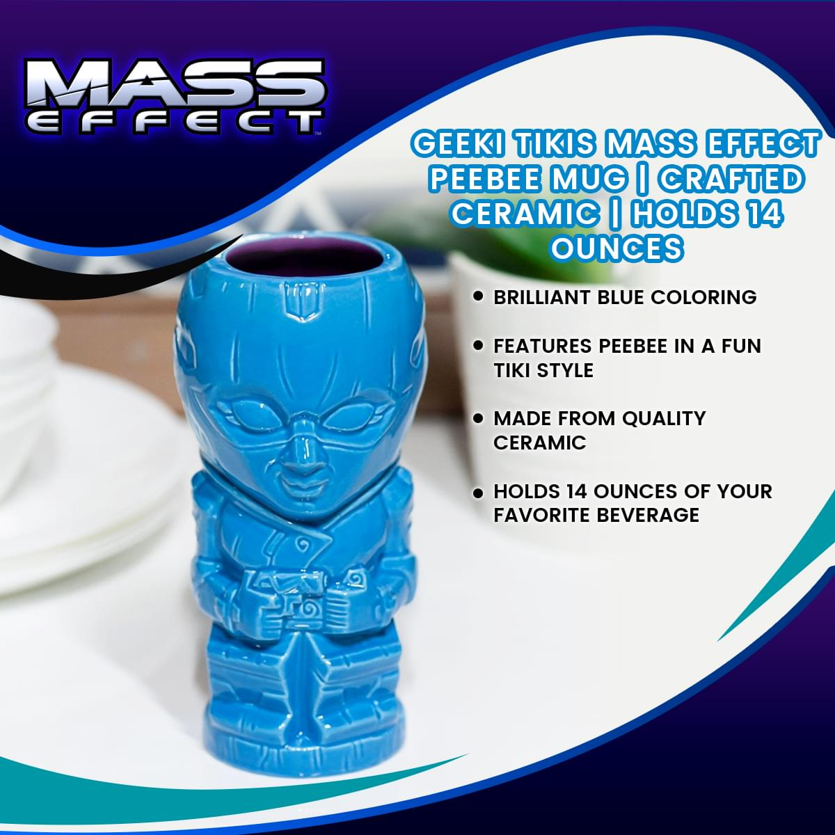 Geeki Tikis Mass Effect Peebee Mug | Crafted Ceramic | Holds 14 Ounces