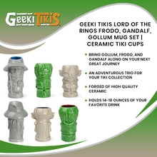 Load image into Gallery viewer, Geeki Tikis Lord Of The Rings Frodo, Gandalf, Gollum Cup Set of 3