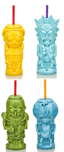 Rick and Morty Geeki Tiki Plastic Tumblers | Set of 4